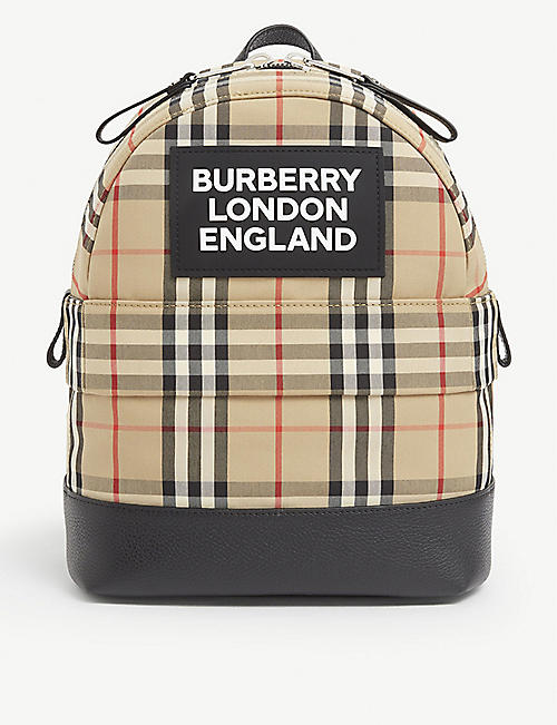 BURBERRY: Kids Nico cotton-blend backpack