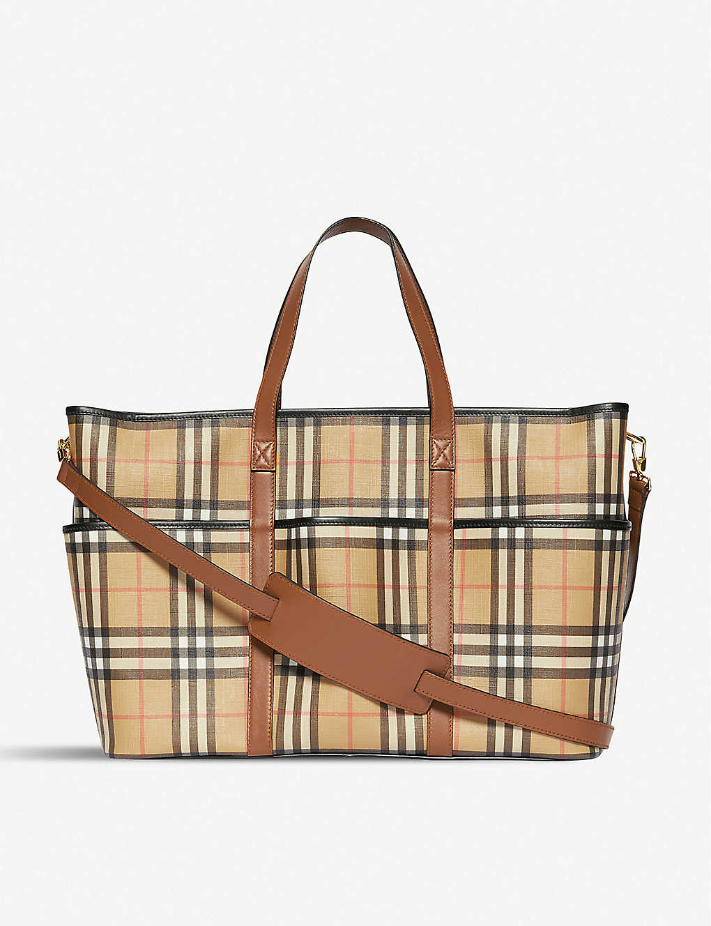 BURBERRY: Parker baby-changing E-canvas tote bag