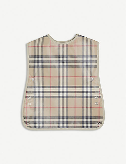 BURBERRY: Checked canvas bib
