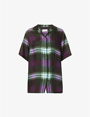 DRIES VAN NOTEN: Checked short-sleeved woven shirt