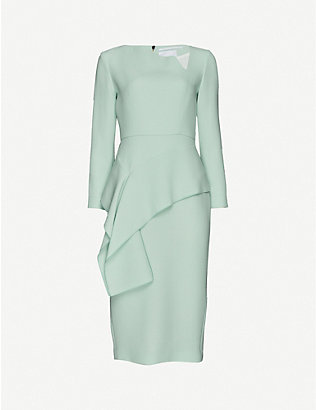 ROLAND MOURET: Abbaye wool midi dress
