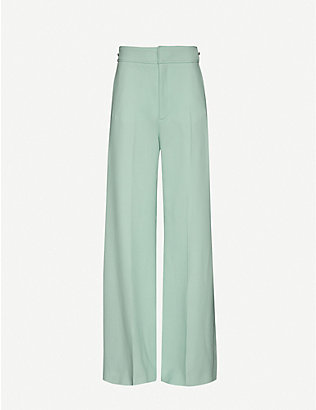 ROLAND MOURET: Merlion wide high-rise wool-crepe trousers