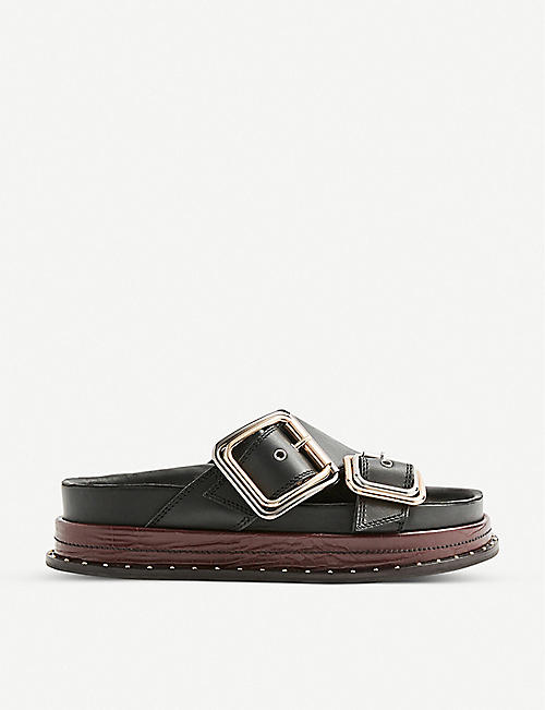 TOPSHOP: Pia buckled sandals