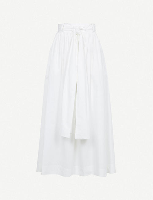 BEC & BRIDGE: St. Silvie tie-belted cotton midi skirt