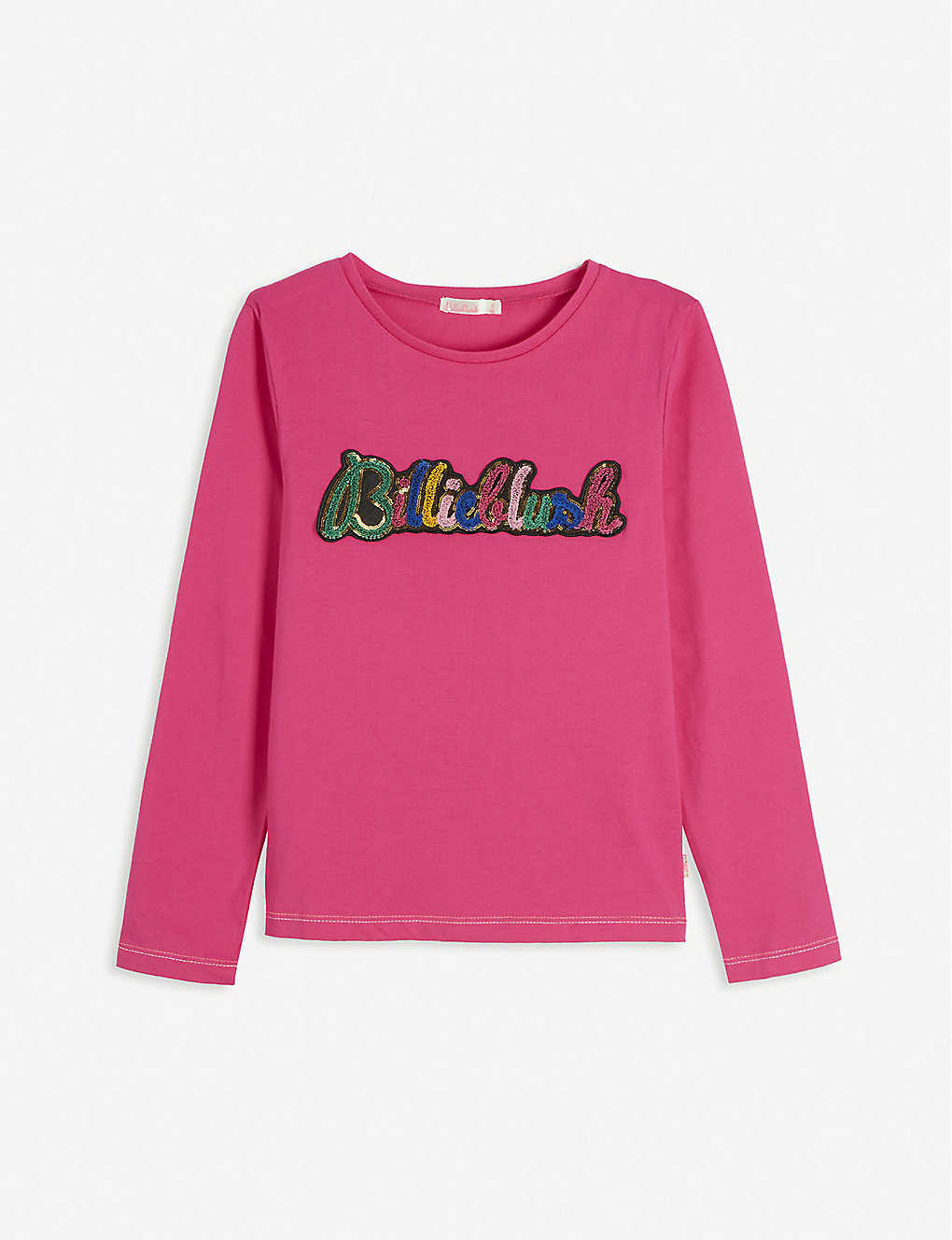 BILLIE BLUSH: Sequin long sleeve cotton T-Shirt 4-12 years