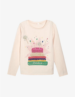 BILLIE BLUSH: Cake print cotton T-shirt 4-12 years