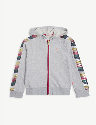 BILLIE BLUSH: Rainbow zip cotton-blend hoody 4-12 years