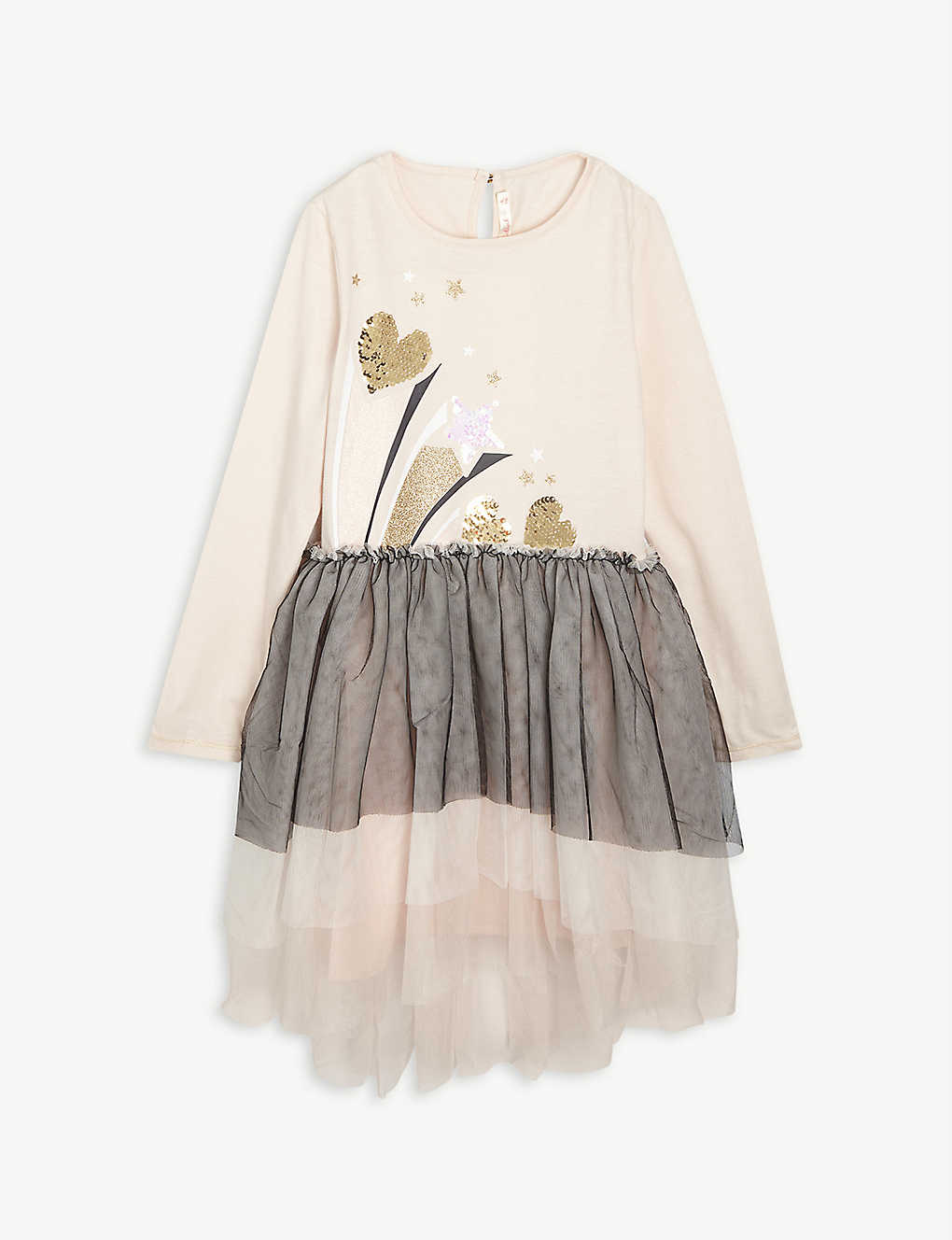 BILLIE BLUSH: Embellished tulle dress 4-12 years