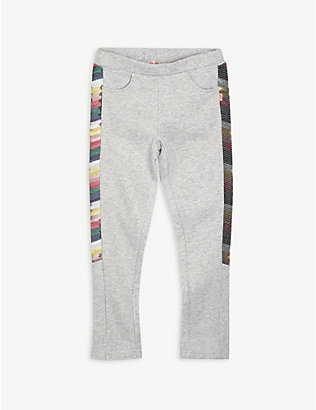 BILLIE BLUSH: Rainbow sequin cotton-blend jogging bottoms 4-12 years