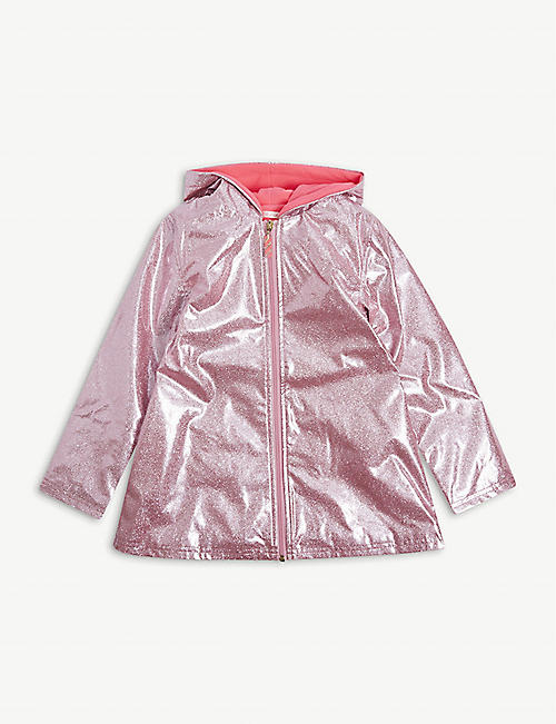 BILLIE BLUSH: Hooded glossy raincoat 4-12 years