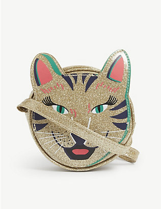 BILLIE BLUSH: Kids tiger-embellished crossbody bag