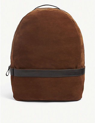 ELEVENTY: Zipped suede backpack
