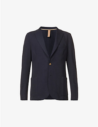ELEVENTY: Single-breasted regular-fit cotton-blend piqué blazer