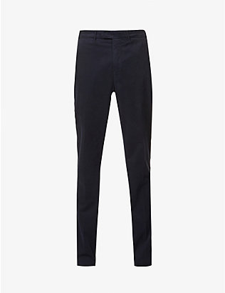 ELEVENTY: Slim-fit cotton-blend trousers