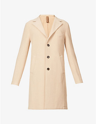 ELEVENTY: Raw-edge wool coat
