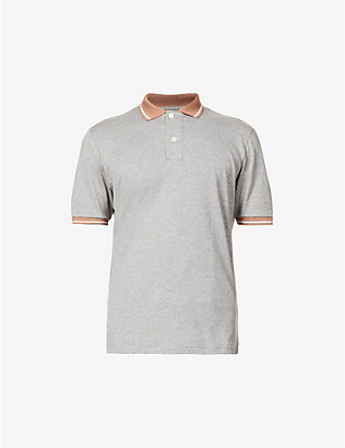 ELEVENTY: Contrast-trim cotton polo shirt