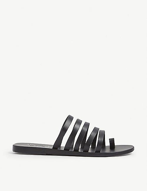 ANCIENT GREEK SANDALS: Niki multi-strap leather sandals