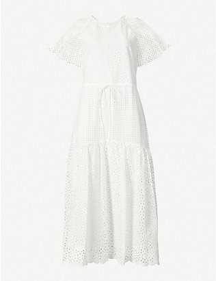 DIANE VON FURSTENBERG: Marlowe broderie cotton midi dress