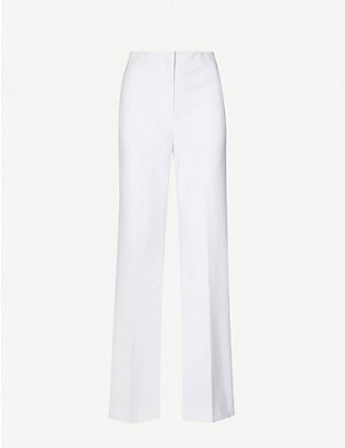 DIANE VON FURSTENBERG: Presley high-rise stretch-twill trousers