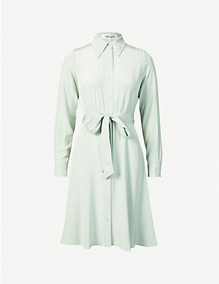 DIANE VON FURSTENBERG: Dory silk midi shirt dress