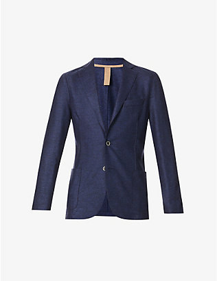 ELEVENTY: Single-breasted regular-fit wool blazer