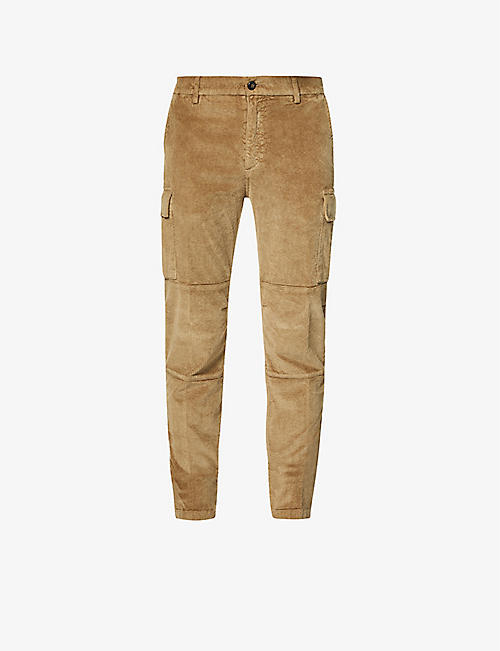 ELEVENTY: Mid-rise cotton-blend trousers