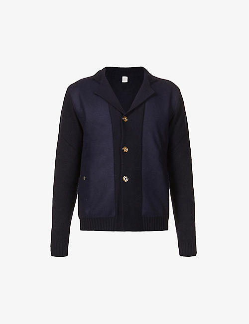 ELEVENTY: Contrast-panel wool cardigan