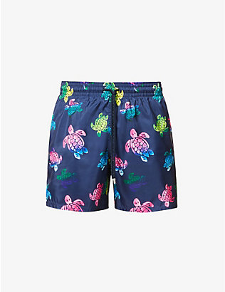 VILEBREQUIN: Turtle print swim short