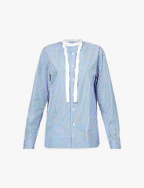 JW ANDERSON: Stripe relaxed-fit cotton shirt