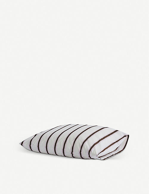 TEKLA: Striped Standard cotton pillowcase 50cm x 75cm