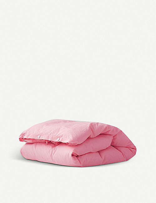 TEKLA: Organic cotton single duvet cover