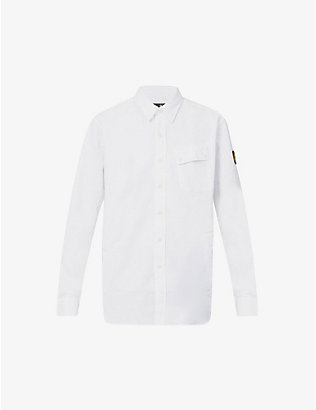 BELSTAFF: Pitch brand-patch cotton shirt