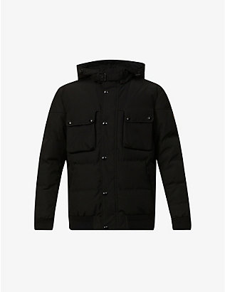 BELSTAFF: Ridge 2.0 hooded shell-down jacket