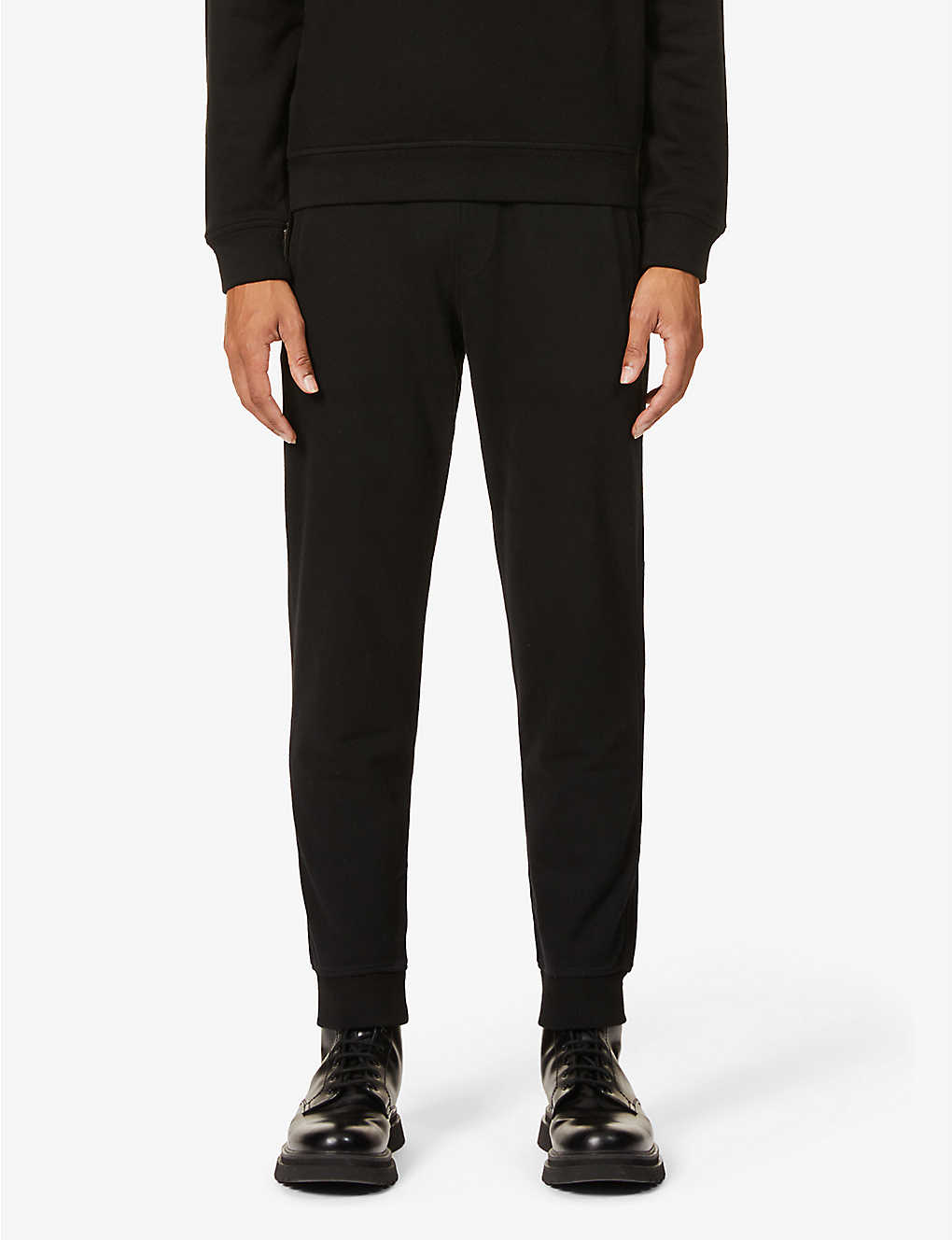 BELSTAFF: Brand-badge relaxed-fit cotton-jersey jogging bottoms