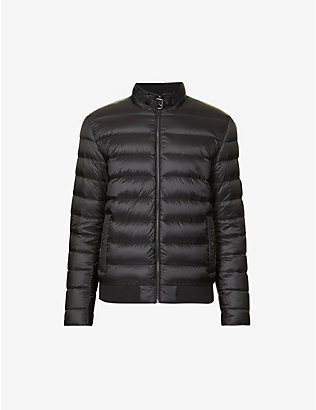 BELSTAFF: Quilted shell-down jacket
