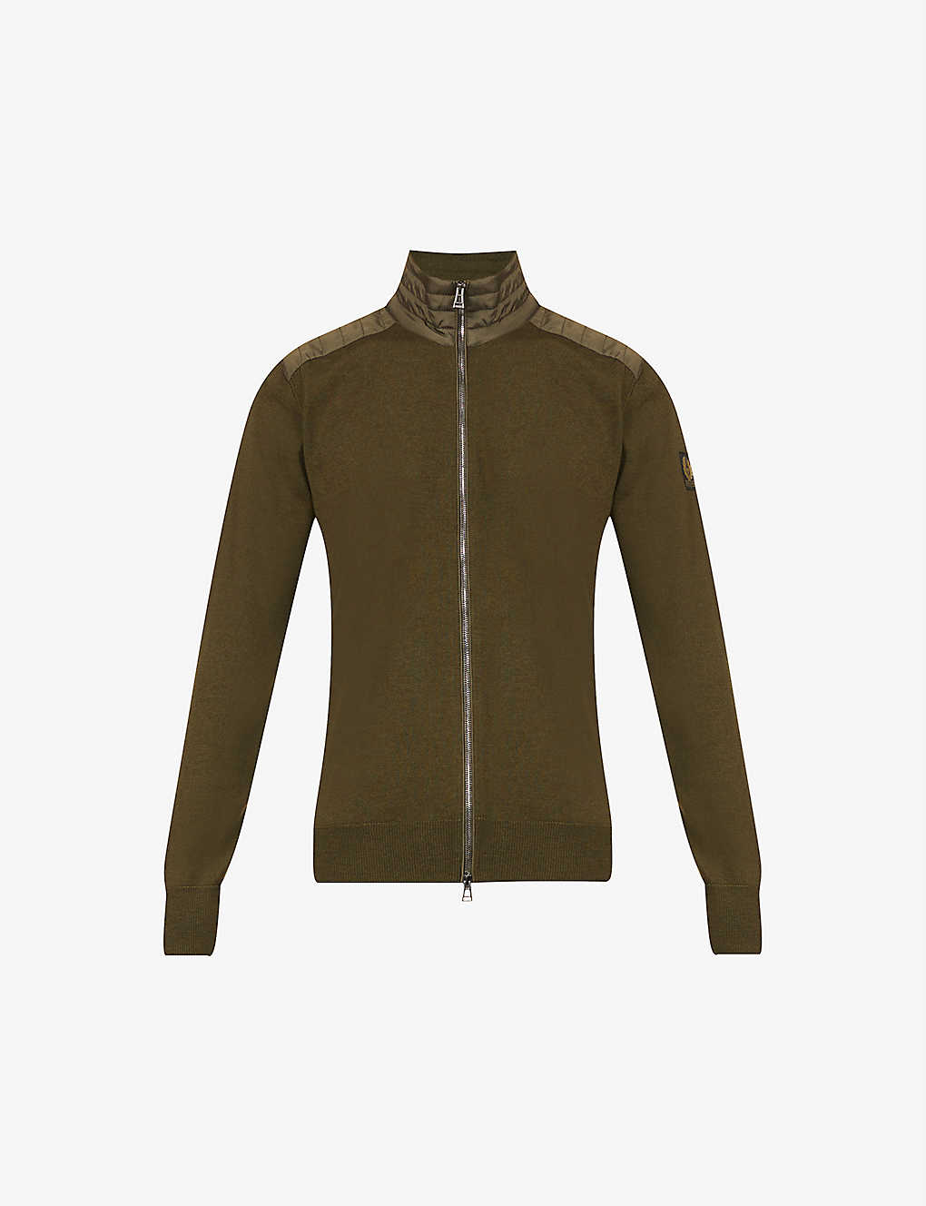 BELSTAFF: Kelby quilted funnel-neck wool cardigan