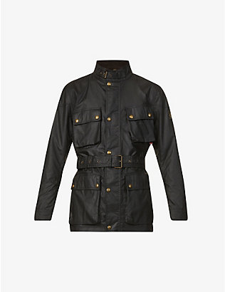 BELSTAFF: Trialmaster funnel-neck waxed cotton jacket