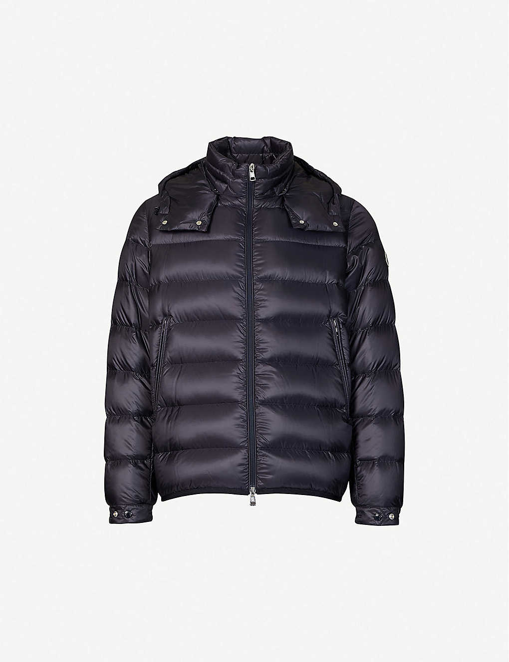 MONCLER: Padded shell-down hooded jacket