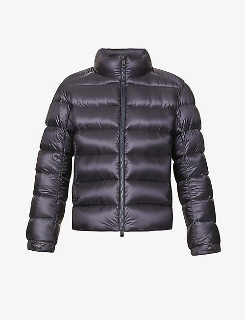 MONCLER: Soreiller zipped shell-down jacket