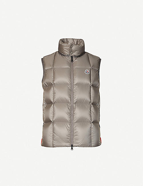 MONCLER: Padded shell-down gilet