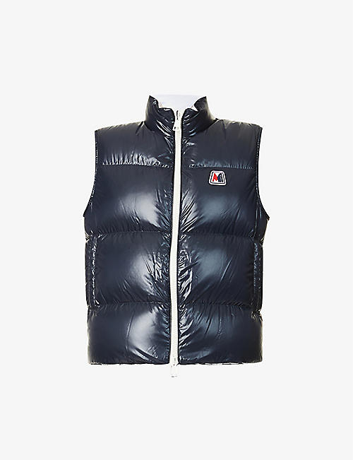 MONCLER: Monginevro padded brand-patch shell-down gilet