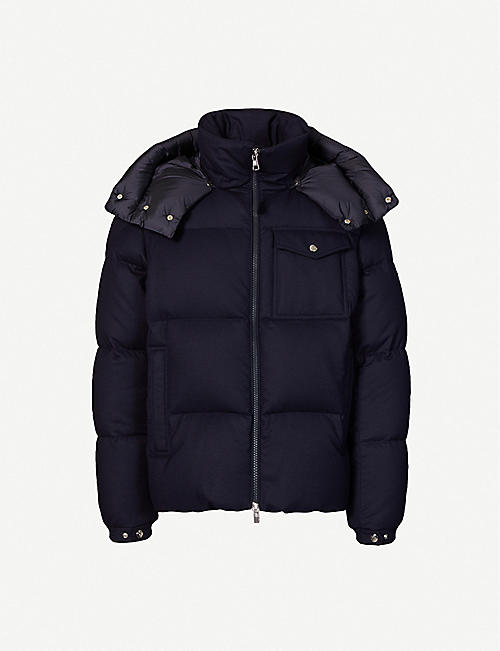 MONCLER: Braz wool and shell jacket