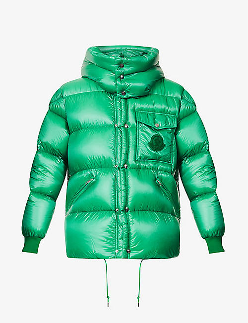 MONCLER: Padded hooded shell-down jacket