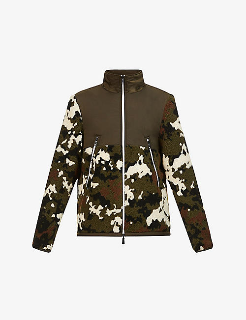 MONCLER: Reversible camouflage-print shell and fleece jacket