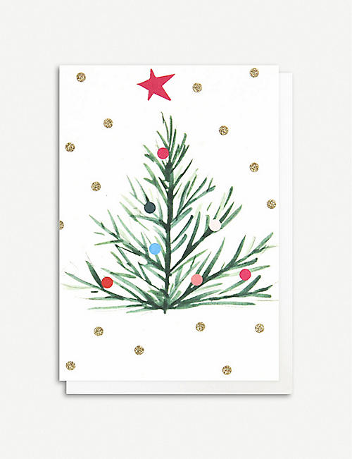 CAROLINE GARDNER: Painted tree pack of 10 greeting cards