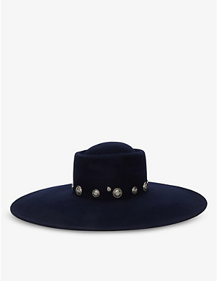 MAISON MICHEL: Kat wool-felt wide brim hat
