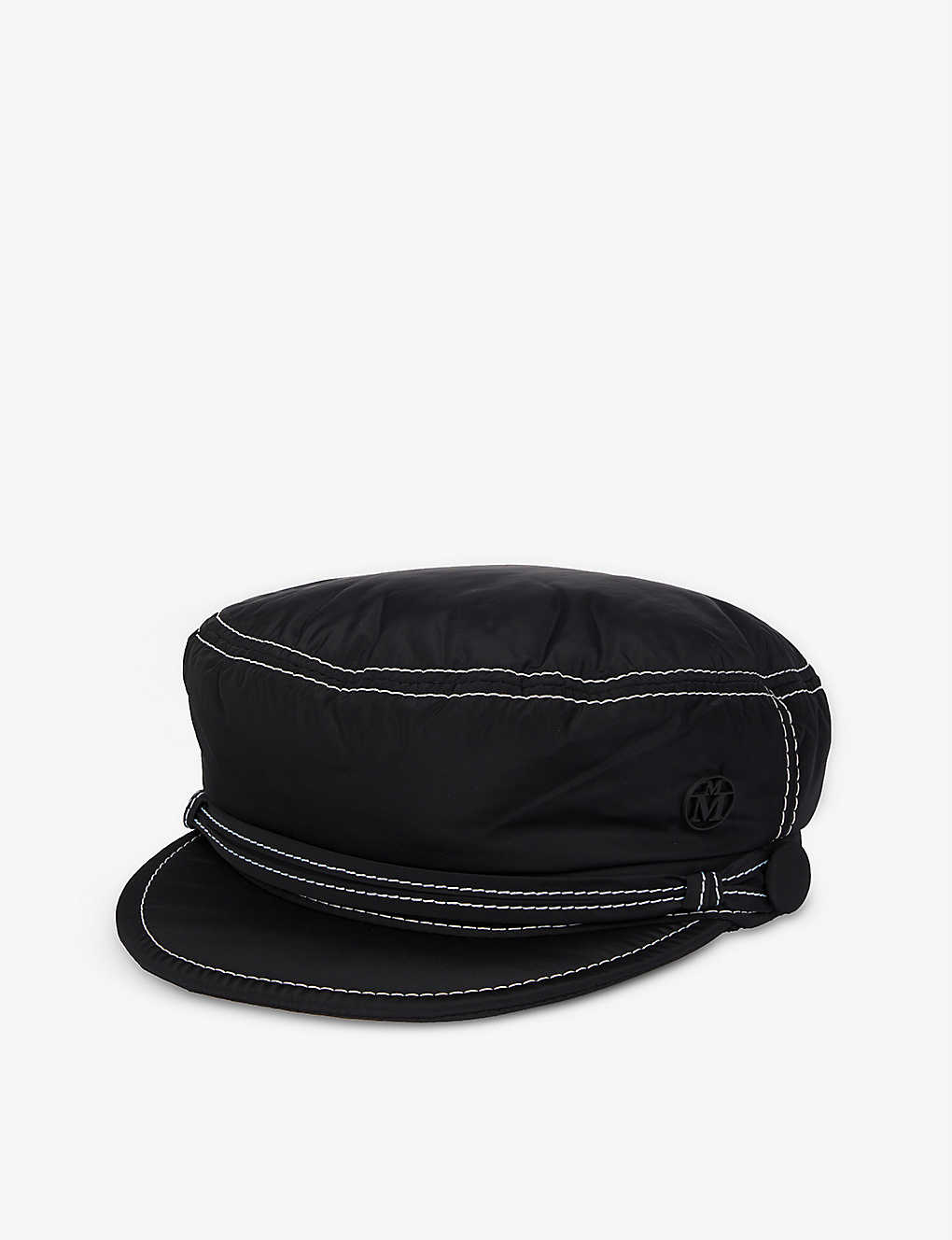 MAISON MICHEL: Contrast-stitch shell military cap