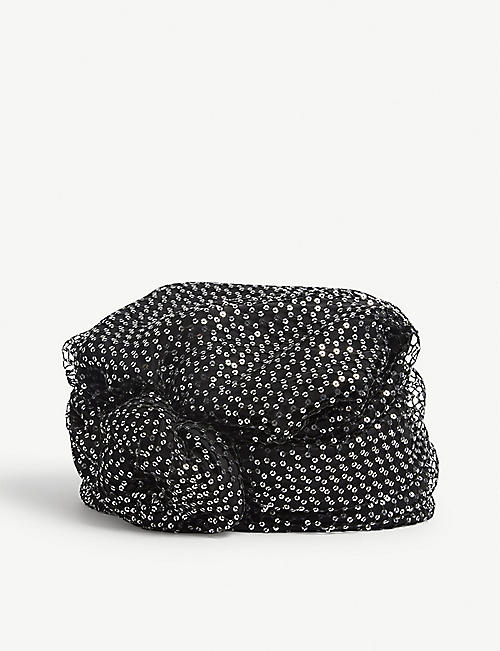 MAISON MICHEL: Hiromi sequin-embellished turban