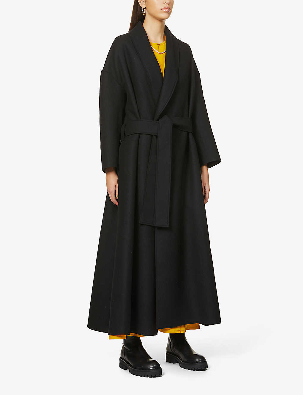 TOOGOOD: The Author belted wool-blend coat