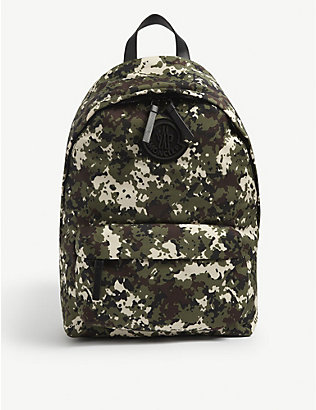 MONCLER: Pierrick logo-embossed nylon backpack